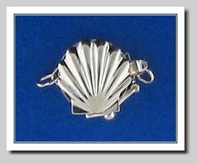 Seashell Clasp 14K White Gold For Pearls 6-8MM