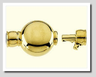 Tie Bar Clasp with End Cups 14K Yellow Gold For Pearls 8-12MM