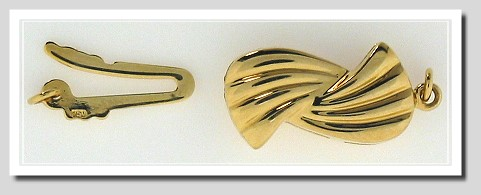 Designers Choice: Ribbon Style Safety Clasp, 18K Yellow Gold
