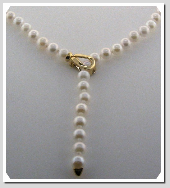 Pearl Clasp Converters 14K Yellow/White Gold. For Pearls up to 6.5MM
