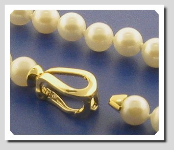 Pearl Clasp Converters 14K White Gold. For Pearls up to 6.5MM