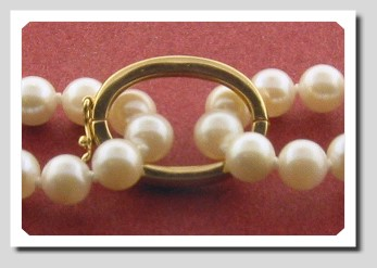 Pearl Shortner, 14K Yellow Gold. For Pearls up to 7.5MM
