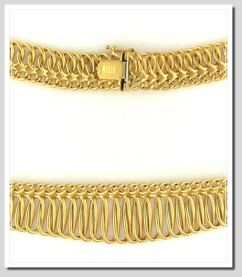 Graduated Designers Fashion Collar Chain 14K Yellow Gold 17in
