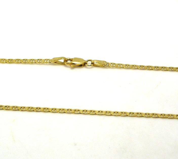 2MM Anckor Style Chain, 14K Yellow Gold, 18in, 3.7 Grams