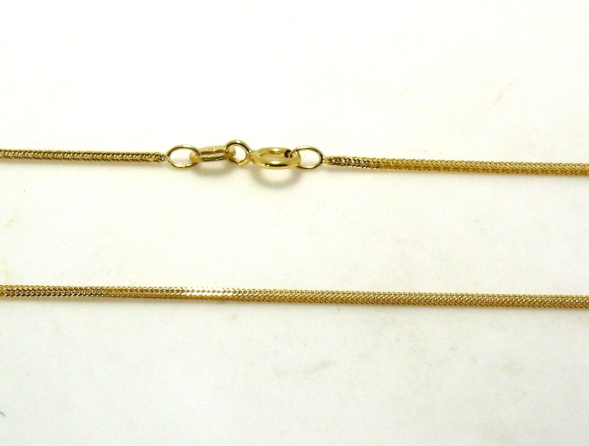 Flexible Snake Chain, 14K Yellow Gold, 18in, 1.8 Grams