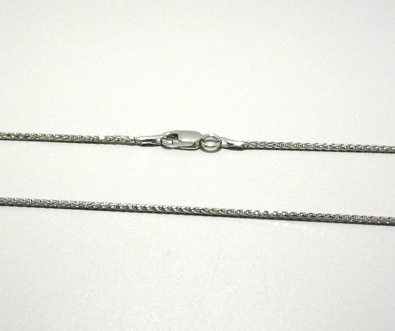 1.2MM Spiga Necklace, 14K White Gold, 16in. 3 Grams
