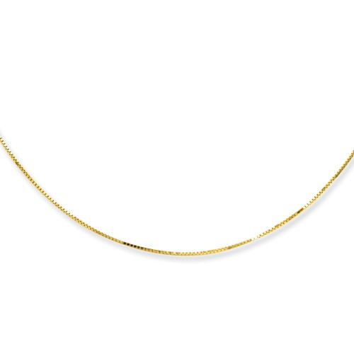 18K Yellow Gold Box Chain, 18in