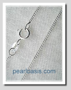 1.4MM Curb Link Chain 16in 925 Sterling Silver