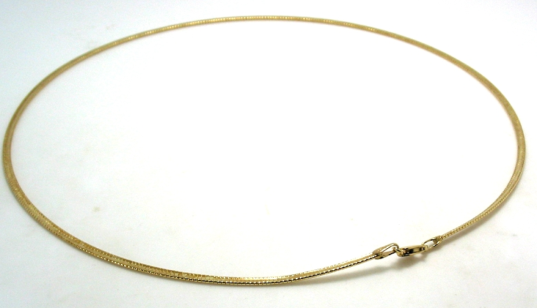 2MM Classic Dome Omega Chain, 14K Yellow Gold, 16In. 6.7 Grams