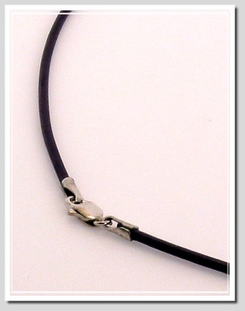 1.5MM Deep Violet Leather Cord 14K White Gold 16in
