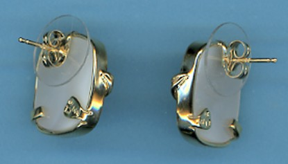 All-American Blister Pearl Earrings, 13X15.85MM, Cushions Shape, 14K Yellow Gold