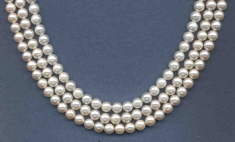 6-6.5MM Japanese Akoya Cultured Pearls, White, Grade AA+