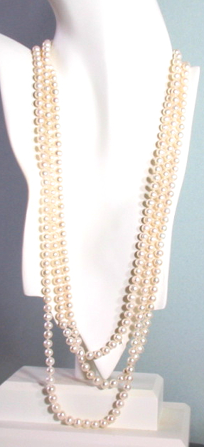 Special: 7.5-7MM White Freshwater Pearl Endless Necklace w/Shortner 80in
