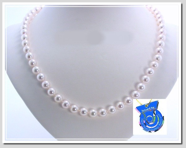 AA+ 6-6.5MM Japanese Akoya Cultured Pearl Necklace 14K Clasp