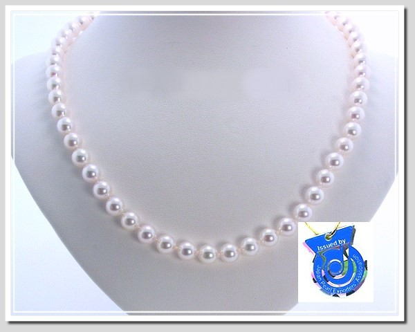 AA+ 8-8.5MM Japanese Akoya Cultured Pearl Necklace 14K Clasp