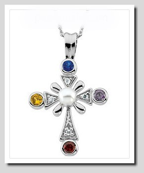 Good News Cross Pendant & Chain 18in Sterling Silver
