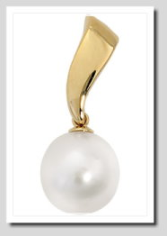Paspaley 11MM White South Sea Pearl Pendant 14K Yellow Gold