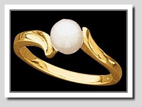 6-6.5MM Cultured Pearl Ring, 14K Gold