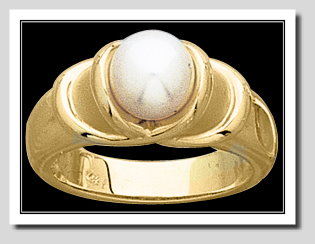 7-7.5MM Cultured Pearl Bowl-Style Ring, 14K Yellow Gold