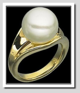 11-12MM South Sea Cultured Pearl Ring, 14K Gold