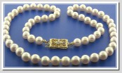 white akoya pearls - necklaces